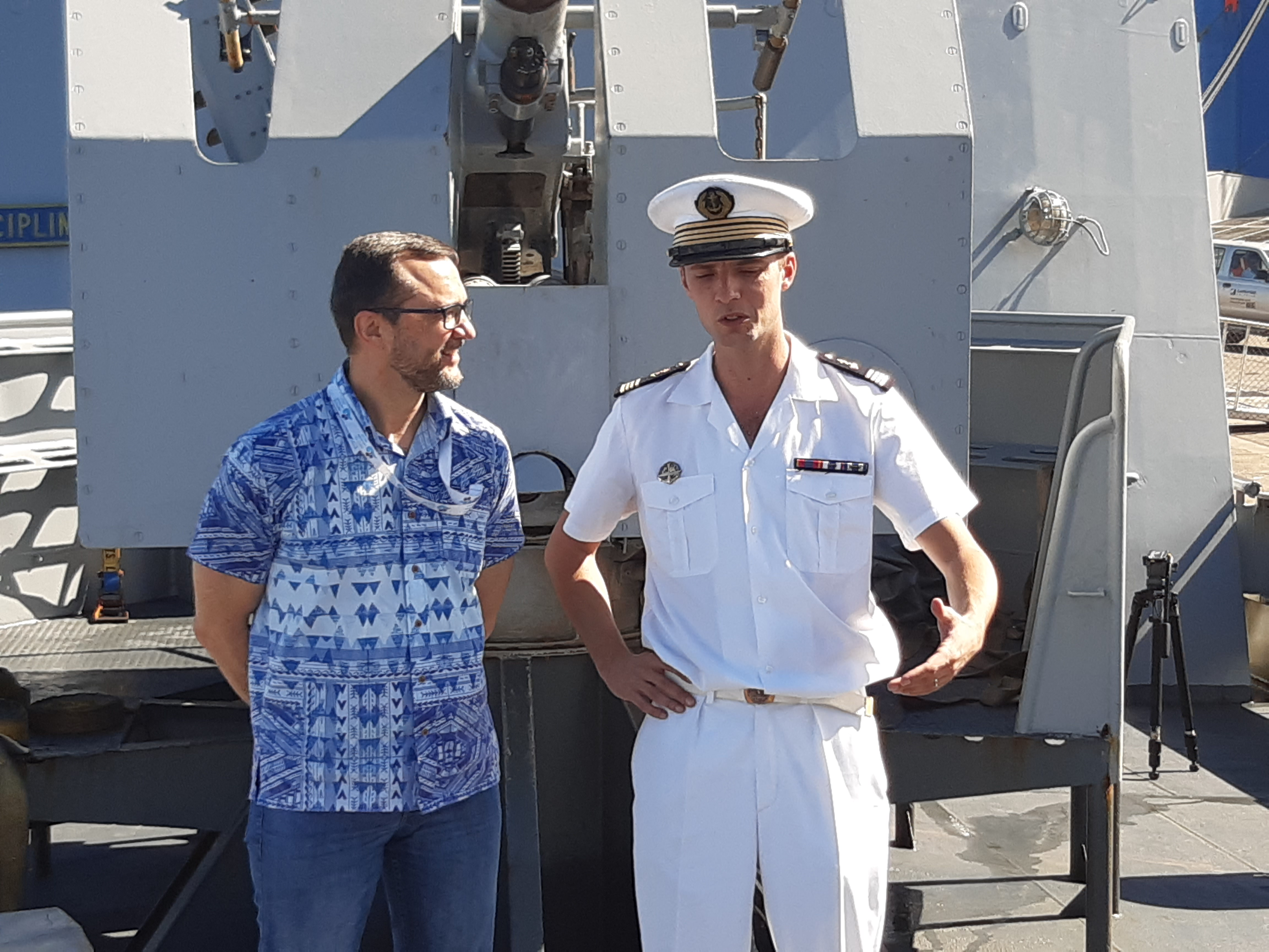 "A French navy vessel ""La Moqueuse"" docked at Kings Warf in Suva on June (...)"
