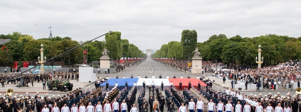 Celebration of Bastille Day in France