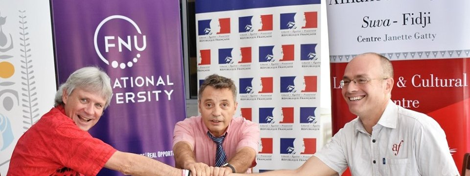 Alliance Française signs MoU with the Fiji National University